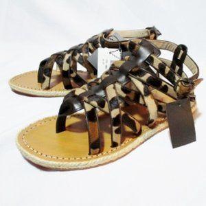 NEW CHRISTIAN LOUBOUTIN PONY FLAT LEOPARD Sandal